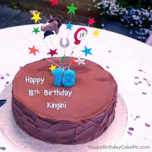 18th Chocolate Birthday Cake For Kingini