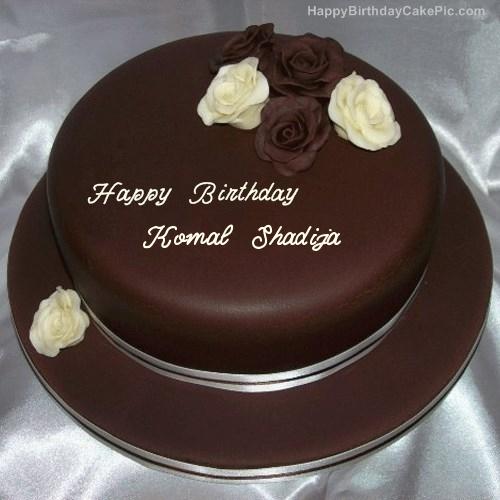 Rose Chocolate Birthday Cake For Komal Shadija