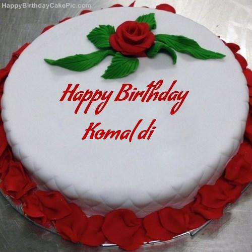 Red Rose Birthday Cake For Komal Di