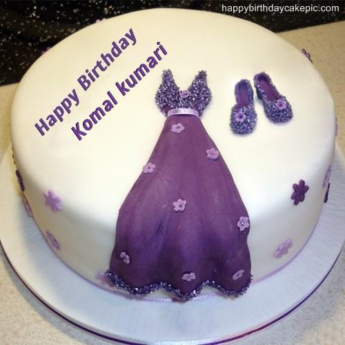 Dress Birthday Cakes For Girls For Komal Kumari