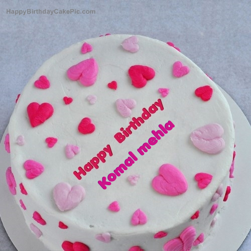 Birthday Cake Images With Name Komal : Little Hearts Birthday Cake For Komal mehla