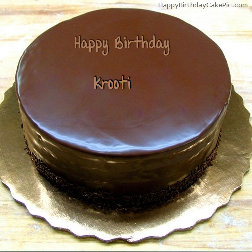 write name on Birthday Chocolate Cake