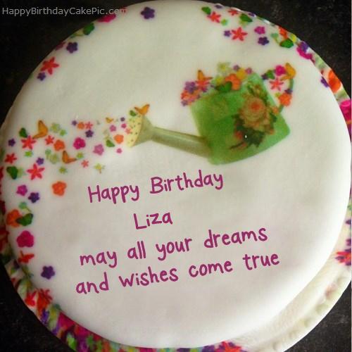️ Wish Birthday Cake For Liza