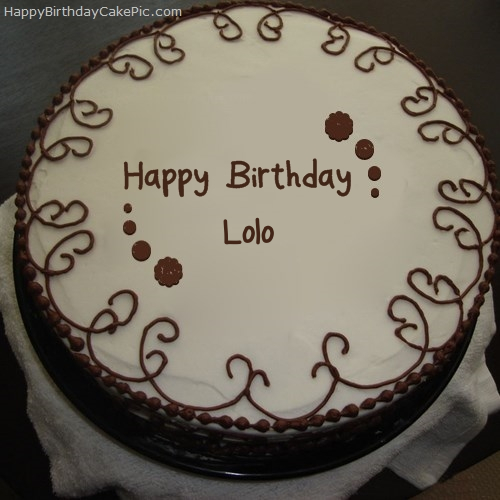 Border Chocolate Cake For Lolo