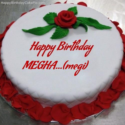 Images Of Cake With Name Megha : Red Rose Birthday Cake For MEGHA...(megi)