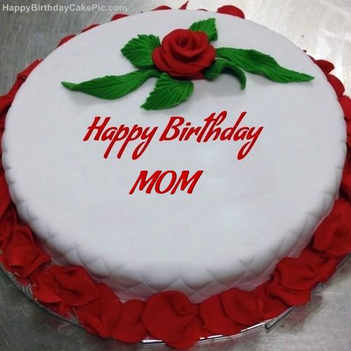 Red Rose Birthday Cake For MOM