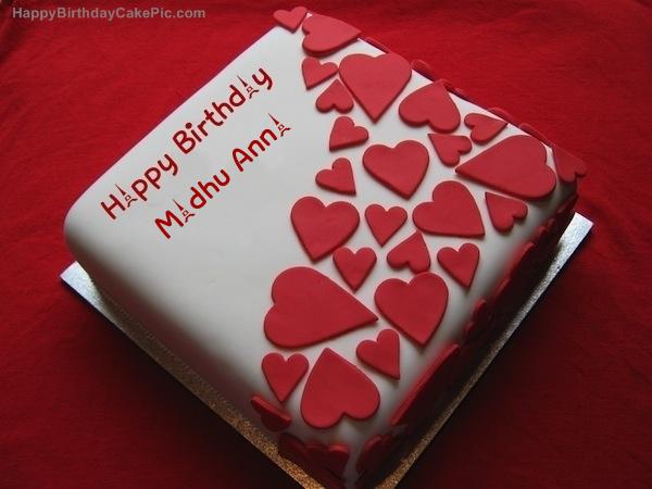 Birthday Wish Beautiful Cake For Madhu Anna