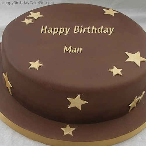 Awe Inspiring Chocolate Stars Birthday Cake For Man Funny Birthday Cards Online Fluifree Goldxyz