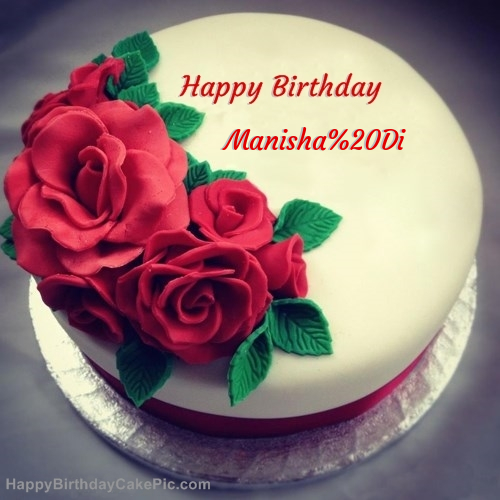 Roses Birthday Cake For Manisha Di