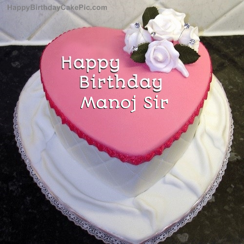 Happy Birthday Cake Manoj