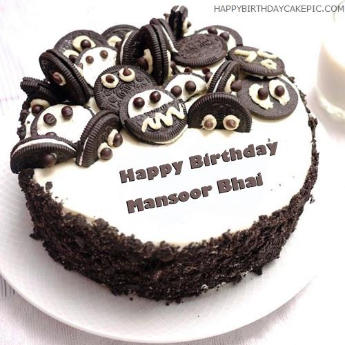 Birthday Cake Images With Name Ashu : Oreo Birthday Cake For Mansoor Bhai