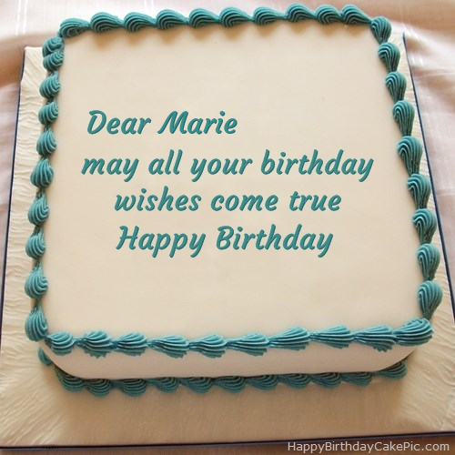 Happy Birthday Cake For Marie