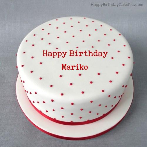 Polka Birthday Cake For Mariko