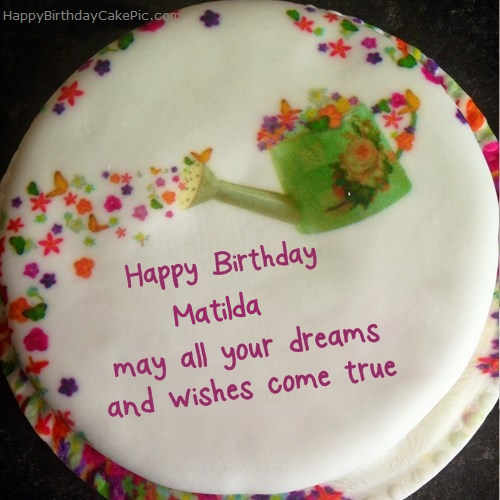 Wish birthday cake for matilda