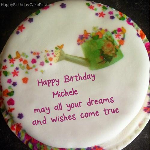 Wish Birthday Cake For Michele