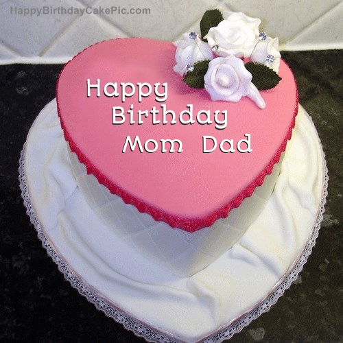 Outstanding Birthday Cake For Mom Dad Personalised Birthday Cards Bromeletsinfo