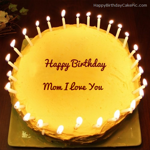 Outstanding Candles Birthday Cake For Mom I Love You Personalised Birthday Cards Rectzonderlifede
