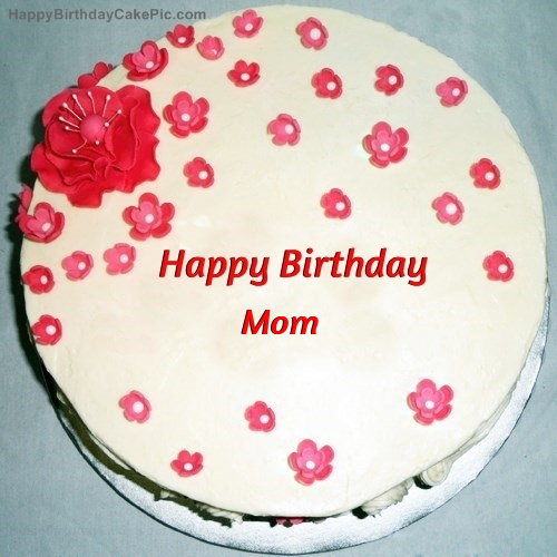 Fondant Birthday Cake For Mom