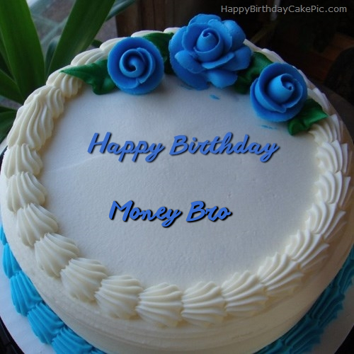Blue Flower Ice Cream Cake For Money Bro