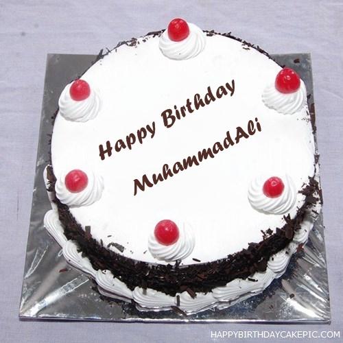 Birthday Cake Pics With Name Ali : Black Forest Birthday Cake For MuhammadAli
