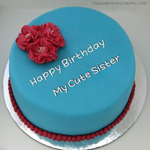 Happy Birthday My Lovely Sister Cake Images Shareimages Co