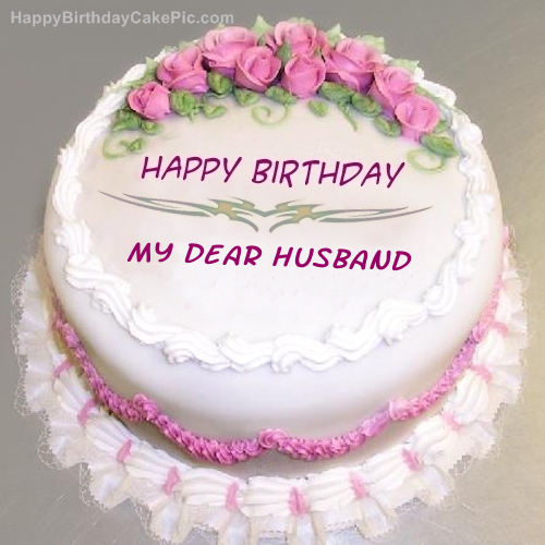 Birthday Cake To Dear Husband Cake Image Diyimages Co