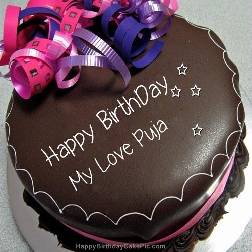 Happy Birthday Chocolate Cake For My Love Puja