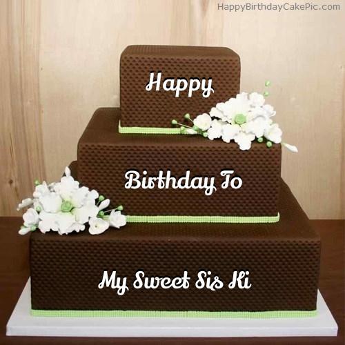 Chocolate shaped birthday cake for my sweet sis ki write name on chocolate shaped birthday cake publicscrutiny Choice Image