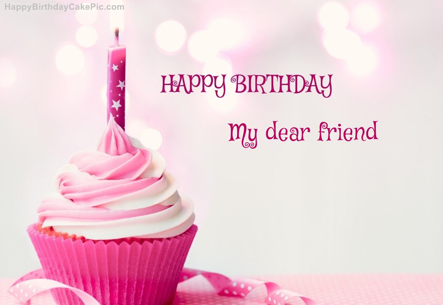 My Name Pix Birthday Cake For Friend