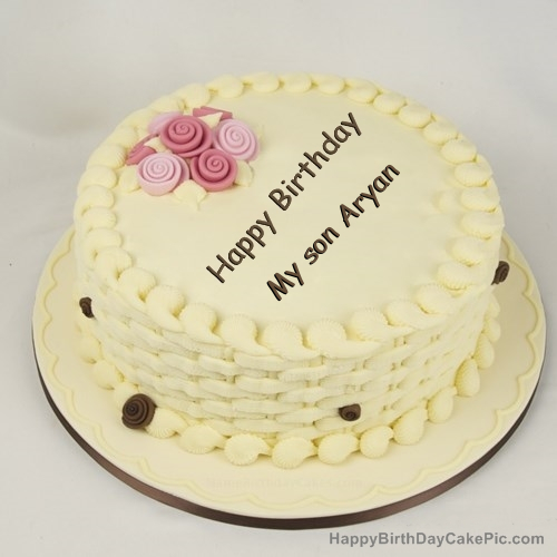 Happy Birthday Cake For Girls For My Son Aryan
