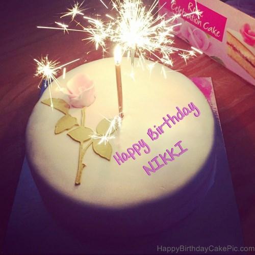 Birthday Cake Images With Name Nikki : Best Happy Birthday Cake For Lover For NIKKI