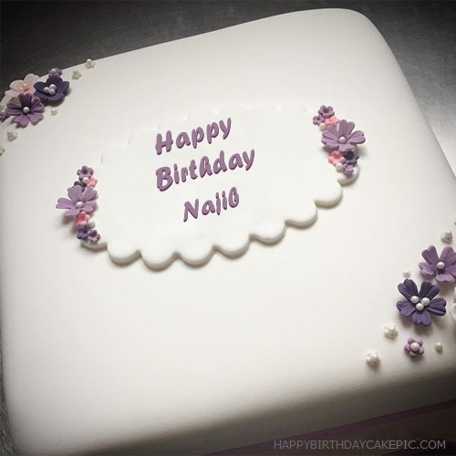 write name on Butter Birthday Cake