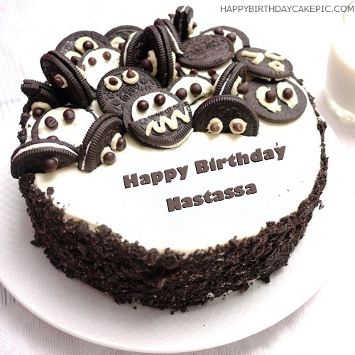 write name on Oreo Birthday Cake