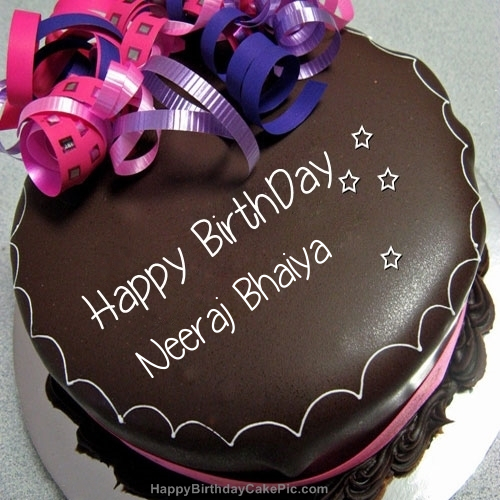Happy Birthday Chocolate Cake For Neeraj Bhaiya