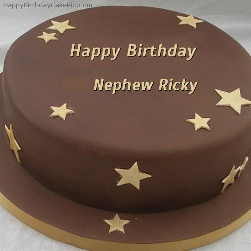Chocolate Stars Birthday Cake For Nephew Ricky