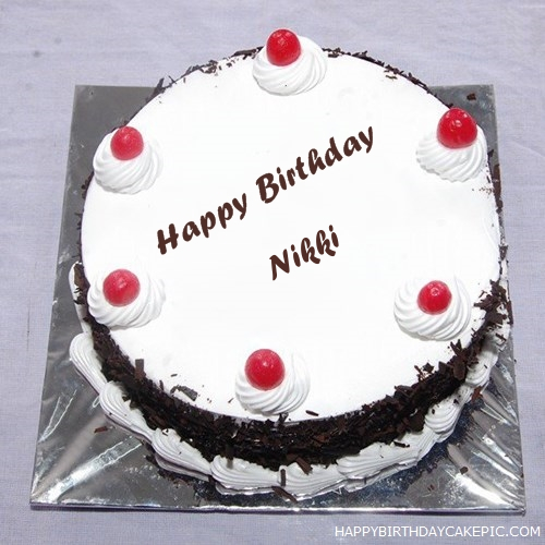 Birthday Cake Images With Name Nikki : Black Forest Birthday Cake For Nikki