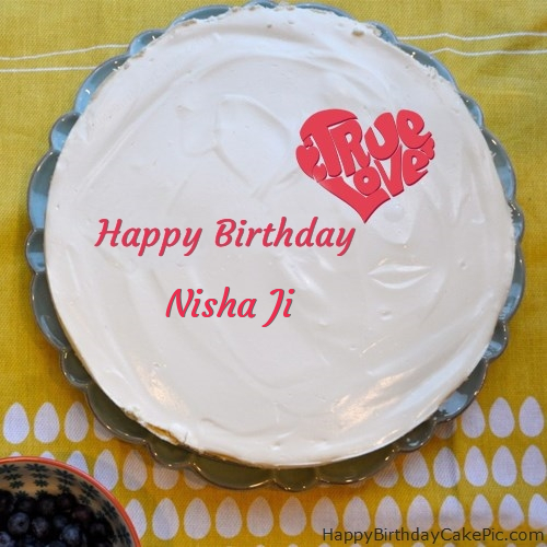 Fabulous Happy Birthday Cake For Nisha Ji