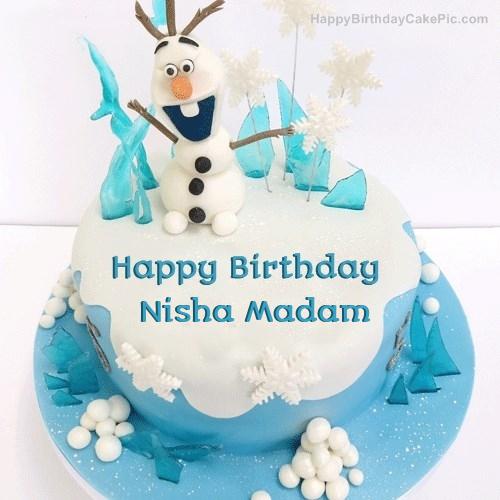 Frozen Olaf Birthday Cake For Nisha Madam