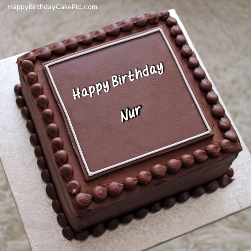 write name on Elegant Square Cake
