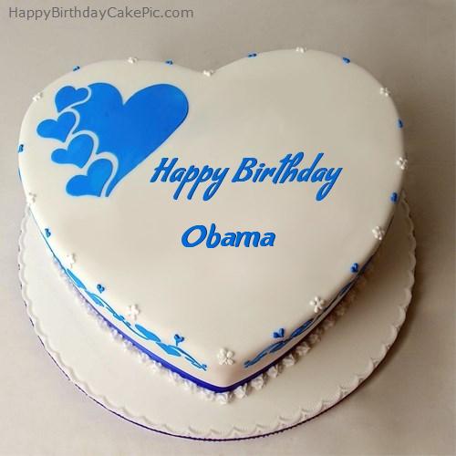 Pleasant Happy Birthday Cake For Obama Funny Birthday Cards Online Inifodamsfinfo