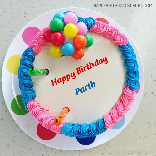 Cake Images With Name Nandini : Colorful Happy Birthday Cake For Parth