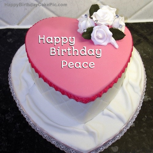 Astounding Birthday Cake For Peace Personalised Birthday Cards Cominlily Jamesorg