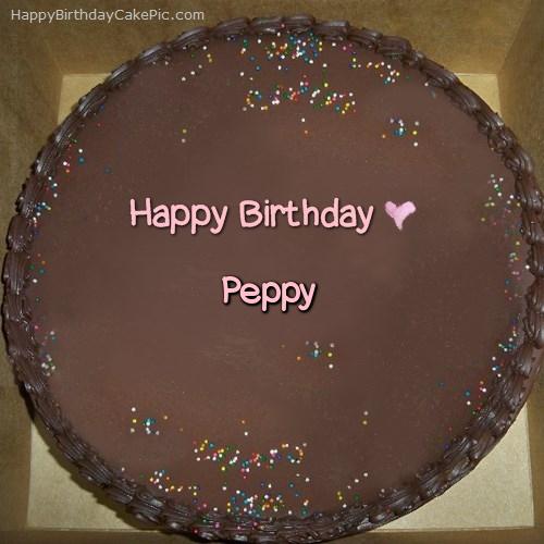 Chocolate Happy Birthday Cake Pics