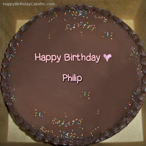 Picture Of A Birthday Cake With Phil