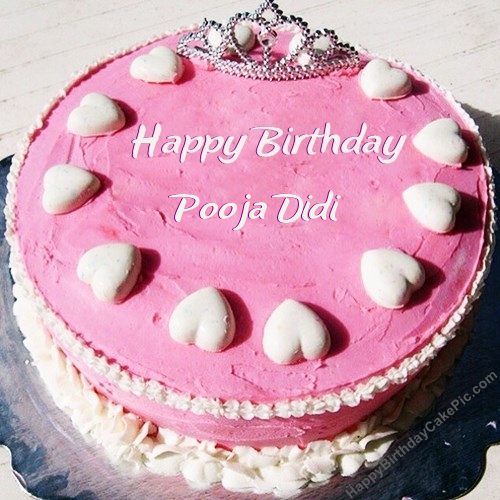 Birthday Cake Images With Name Pooja : Princess Birthday Cake For Girls For Pooja Didi