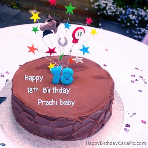 Cake Images With Name Prachi : 18th Chocolate Birthday Cake For Prachi baby