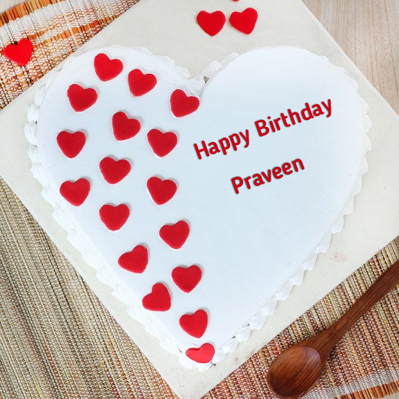 Paradise Love Birthday Cake For Praveen