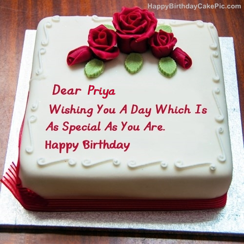 Birthday Cake Images With Priya Name : ~~Happy Birthday Priya~~ 4787322 meme4u.com Forum