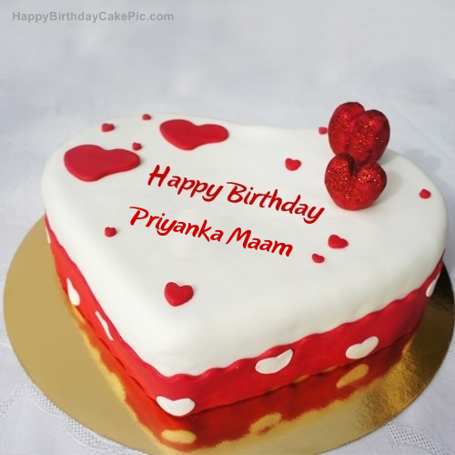 Ice Heart Birthday Cake For Priyanka Maam