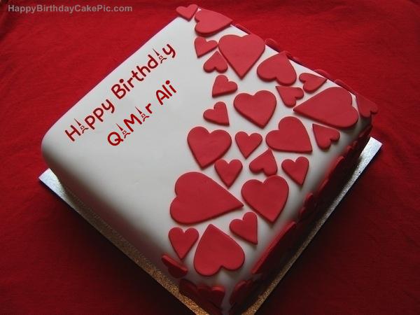 Birthday Cake With Name Qamar ~ Birthday wish beautiful cake for qamar ali